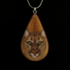 Cougar on Sappel Ribbon Wood Pendant