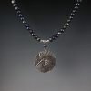 Koi Pond and Ocean Waves Sterling Silver Freshwater Pearl 2 Sided Necklace