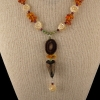Antler, Baltic Amber and Mother of Pearl Necklace