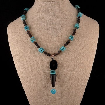 Antler and Turquoise Necklace