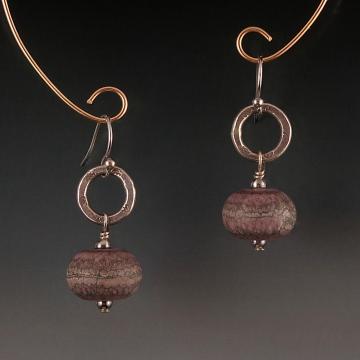 Artisan Lampwork Hill Tribe Silver Earrings